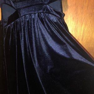 one clothing Dresses - Navy velvet mini dress